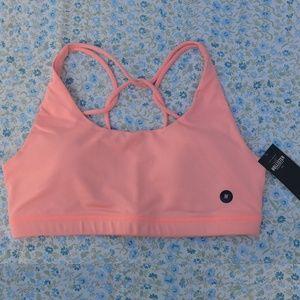 NWT Hollister Strappy Back Sports Bra Pink Medium